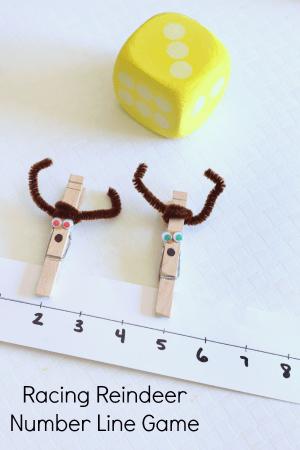 Racing Reindeer Number Line Activity
