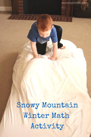 Snowy Mountain Winter Math Activity