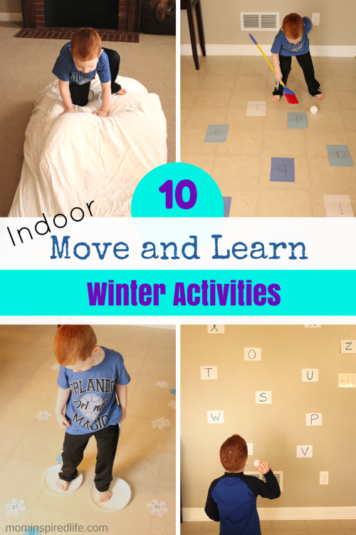 10 Move and Learn Winter Activities for Kids. Active learning activities that cover math skills, literacy skills, color recognition and even science!