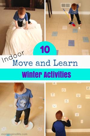 Winter indoor active learning for preschoolers for Winter themed gross motor activities