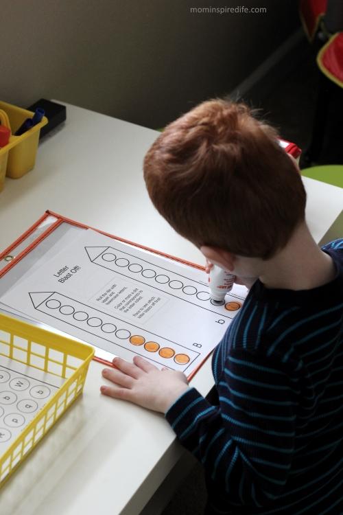 Letter Blast Off! Letter Recognition Printable Alphabet Game