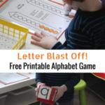 Letter Blast Off! Free Printable Alphabet Game