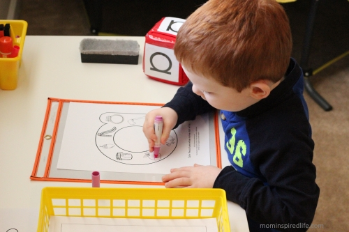 Literacy Learning Station Letters ABC Beginning Sounds Coloring Sheets