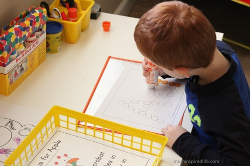 Literacy Learning Station Letters ABC Do a Dot