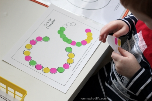 Literacy Learning Station Letters ABC Dot Stickers