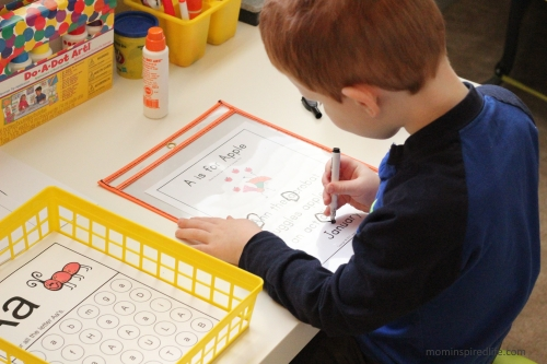 Literacy Learning Station Letters ABC Letter Hunt Story