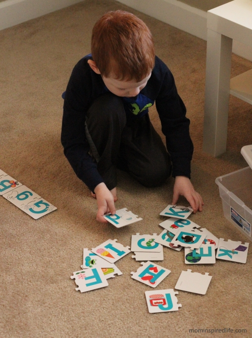 Literacy Learning Station Letters ABC Letter Puzzle