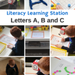 Literacy Learning Stations – Letters A, B, C