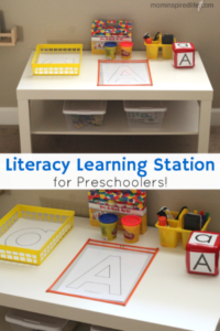 Literacy Learning Station for Preschoolers