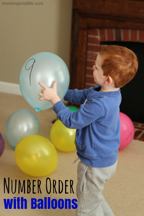 Number Order with Balloons Activity. Exciting way to practice number identification and number order.