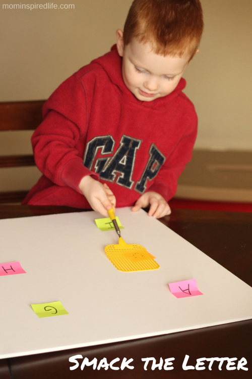 Smack the Letter Alphabet Game. A kinesthetic way to learn letter sounds!