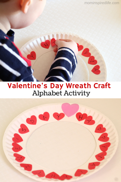valentines alphabet wreath craft