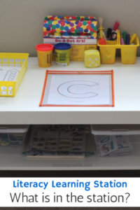 What is in the Literacy Learning Station?