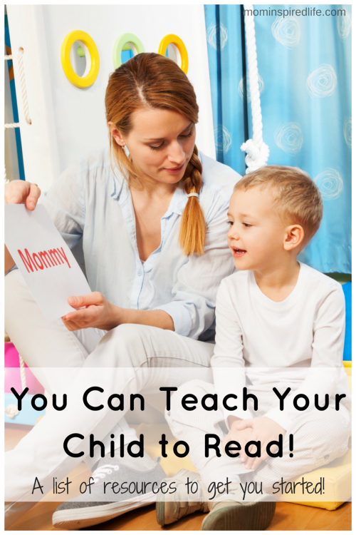 You Can Teach Your Child to Read! My plan and a list of resources to help you on your journey to teach your child how to read!