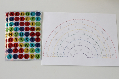 Alphabet Letter Matching Rainbow supplies