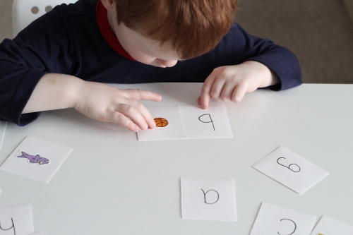 Beginning Sounds Matching Puzzles with Stickers. Go through the pieces and match the letter to the sticker.