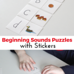 Beginning Sounds Matching Puzzles with Stickers