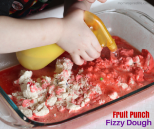Fizzy Dough Sensory Science for Fine Motor Development. Create a reaction with fizzy dough and Kool-Aid.