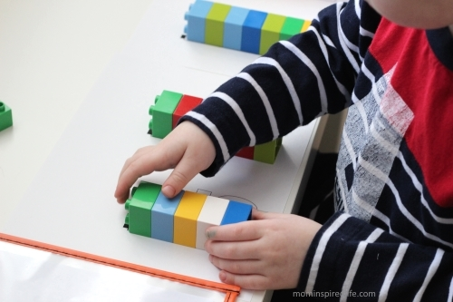 Lego Duplo Counting and Patterning Cards