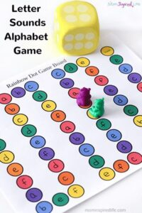 Printable Letter Sounds Alphabet Board Game