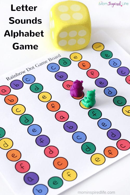 This letter sounds alphabet board game is a really fun way for preschool and kindergarten students to learn letters and letter sounds!