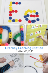 Literacy Learning Station – Letters D, E, F