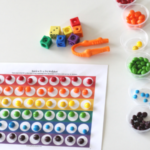 Rainbow Counting Activity with Candy