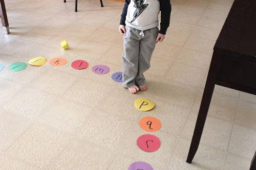 Rainbow Hop Letter Sounds Alphabet Game. Practice letter sounds with this fun literacy learning activity!