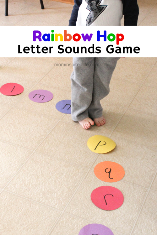 Rainbow Hop Letter Sounds Game