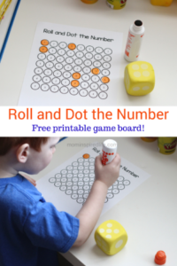 Roll and Dot the Number Math Game