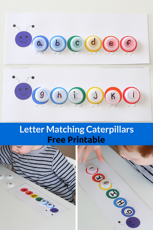 Uppercase and Lowercase Letter Matching Caterpillars. Use this free printable to learn letters, shapes, colors, sight words and more!