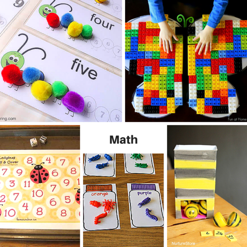 Insect math learning activities