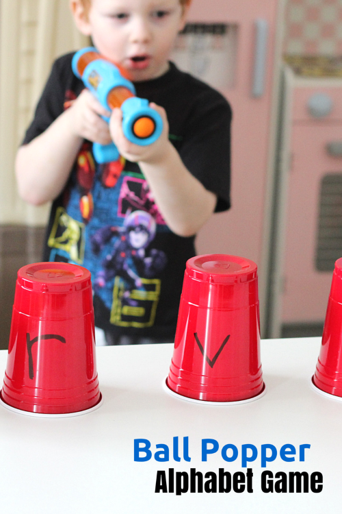Ball Popper Alphabet Game. Use this fun power popper to teach letter identification and letter sounds.