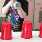 Ball Popper Alphabet Game with Plastic Cups