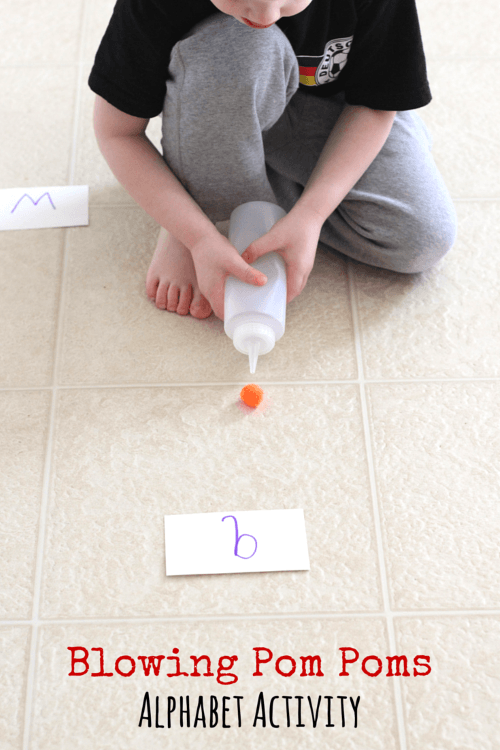 Kids will get fine motor exercise while doing this fun alphabet activity!