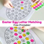 Easter Egg Letter Matching Printable