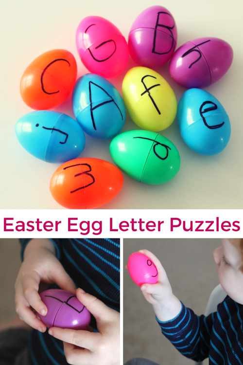 Easter Egg Letter Puzzles. This alphabet activity develops critical thinking and fine motor skills.