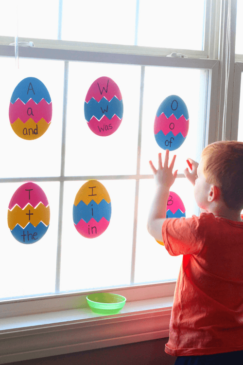 Easter Egg Puzzles for Learning Letters and Sight Words