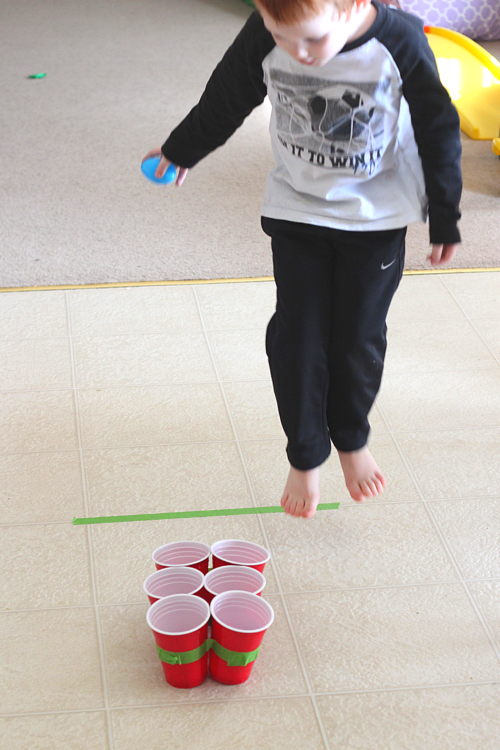 Practice addition while playing a fun Easter egg toss game!