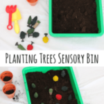 Planting Trees Sensory Bin for Earth Day