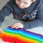 Rainbow Patterns with Blocks