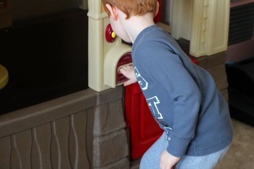 Kids will search around to find the alphabet shamrocks