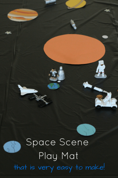 Space Scene Play Mat for Small World Play