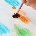 Watercolor Crayon Resist Easter Egg Hunt