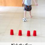 Ball Theme Alphabet Activity: Kick the Cup