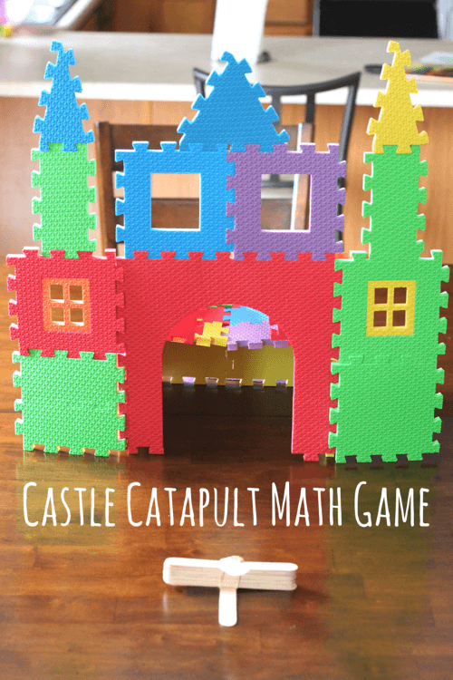 Castle Catapult Math Game is fun for preschoolers and young kids!