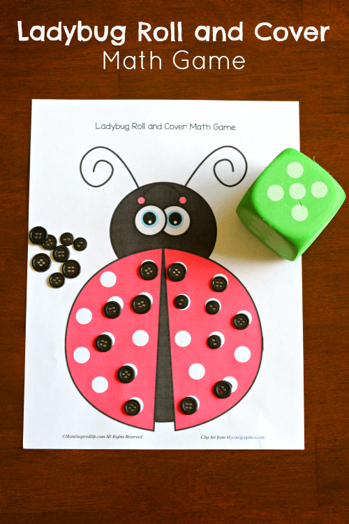 online math games for preschoolers ladybug roll and cover math 378