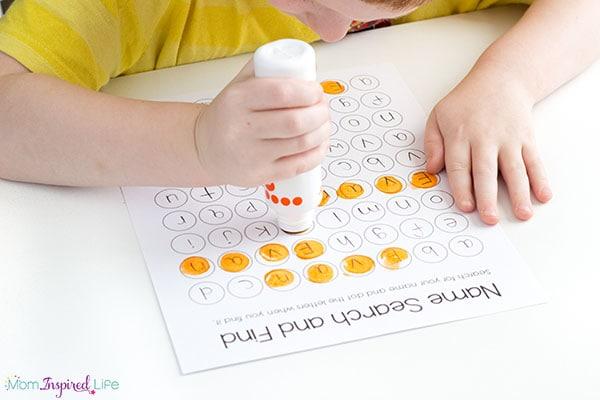 Learning names in preschool and kindergarten.