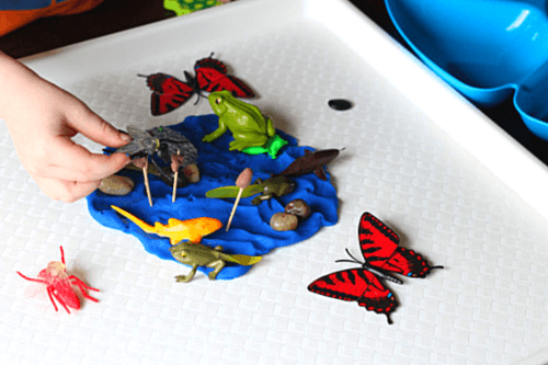 Add insects to pond life play dough scene