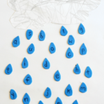 Raindrops Letter Matching Craft